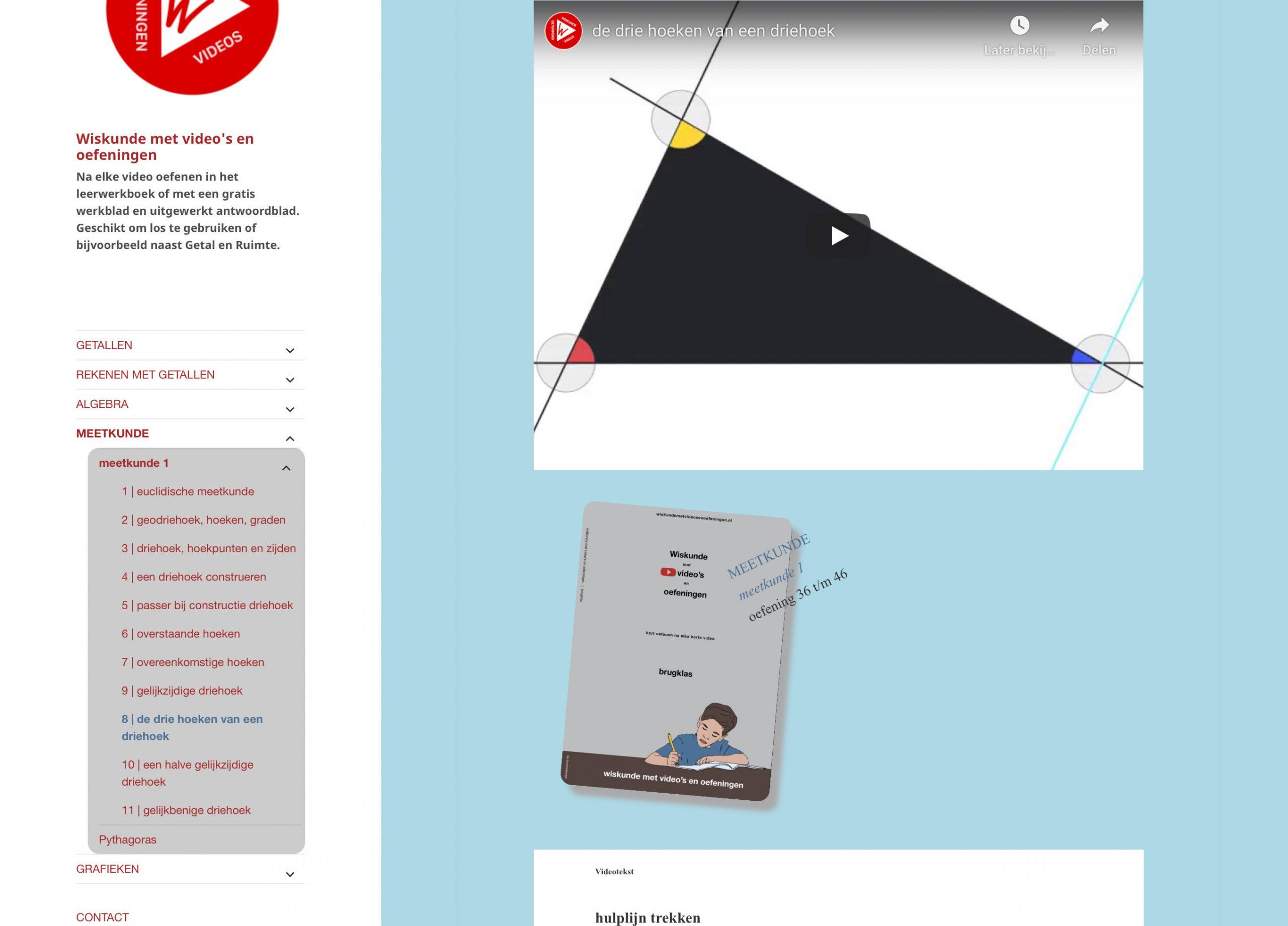 meetkunde, lijnen en hoeken